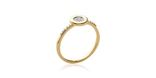 Dámský pozlacený prsten se zirkony Fifi Ange