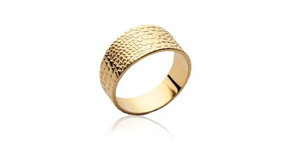 Dámský pozlacený prsten s reliéfem Fifi Ange
