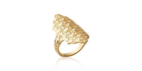 Dámský pozlacený prsten s filigránovým vzorem Fifi Ange