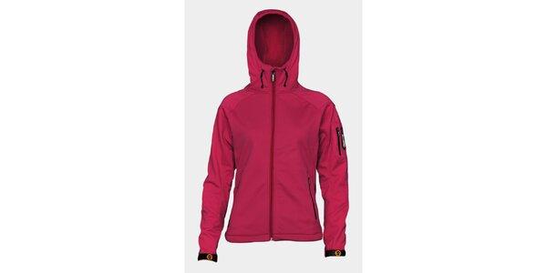 Dámská růžová softshellová bunda Sweep s kapucí