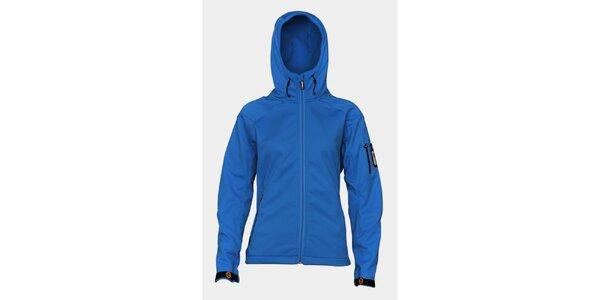 Dámská světle modrá softshellová bunda Sweep s kapucí