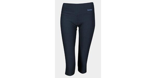 Dámské černé 3/4 elastické kalhoty Sweep