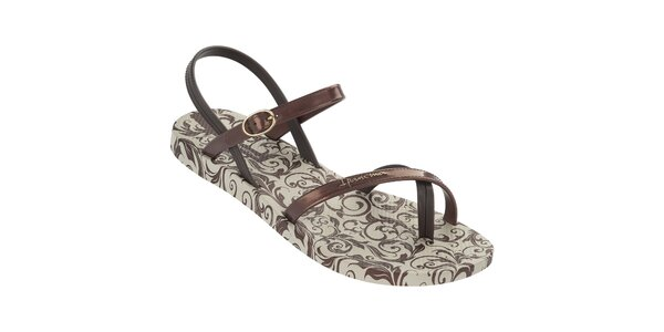 Dámské bronzové vzorované sandály Ipanema