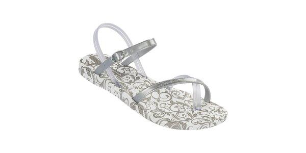 Dámské stříbrné vzorované sandály Ipanema