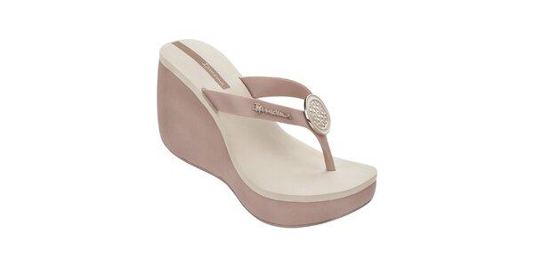 Dámské dvoubarevné sandály s ozdobou Ipanema