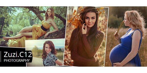 Portrétní a glamour fotografování v přírodě