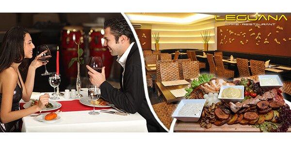 3chodové menu pro dva v restauraci Leguana