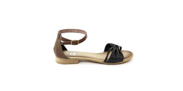 Dámské černé kožené sandálky Julie Julie