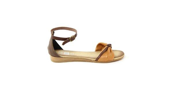 Dámské kožené sandálky s přezkovým zapínáním Julie Julie