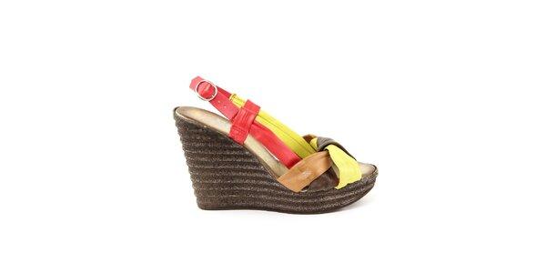 Dámské kožené barevné sandálky Julie Julie