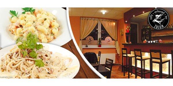 2x gnocchi nebo špagety v restauraci Zulum