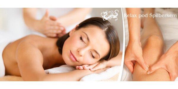 60 minut zdravotních či odpočinkových masáží