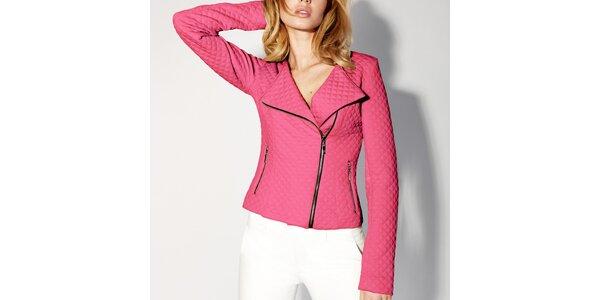 Dámská růžová prošívaná bunda - křivák Rylko
