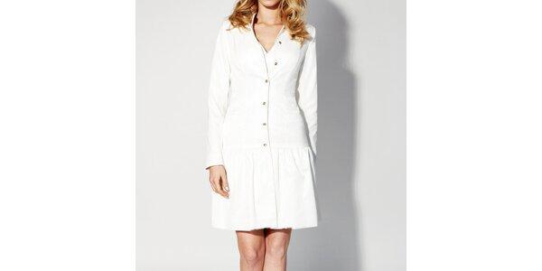 Dámské bílé propínací šaty Rylko