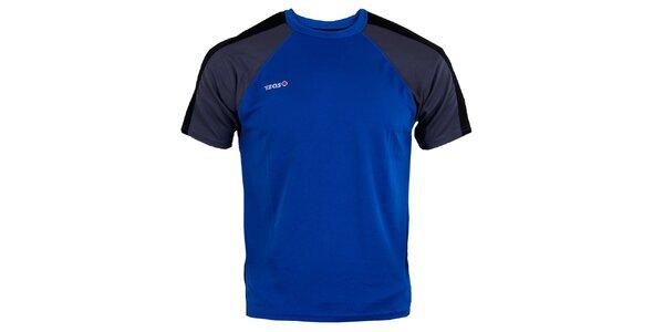 Pánské modro-černo-šedé běžecké tričko Izas