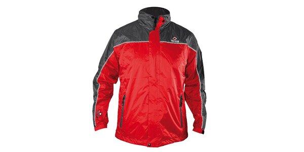 Pánská červeno-šedá funkční bunda Izas