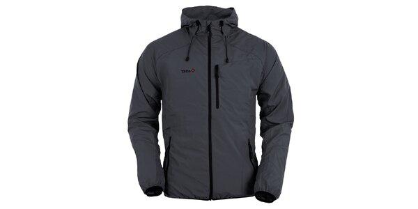 Pánská tmavě šedá bunda s kapucí Izas