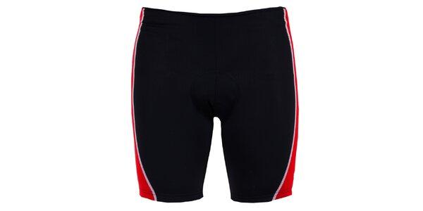 Pánské černo-červené cyklistické šortky Izas