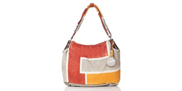 Dámská vícebarevná kožená kabelka Gianni Conti