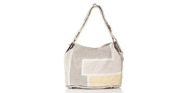 Dámská kožená kabelka ve světlých barvách Gianni Conti