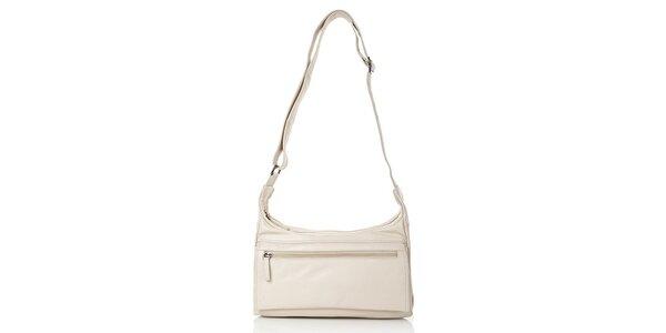 Dámská béžová kabelka z kůže Gianni Conti