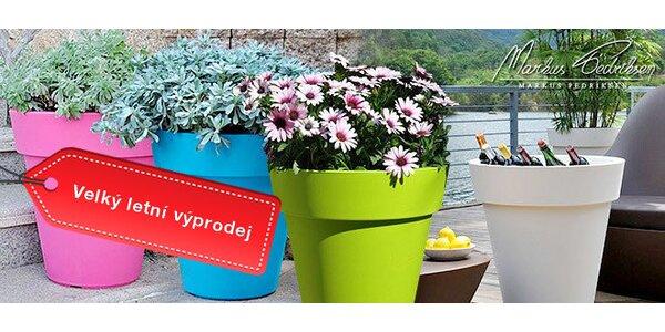 Výprodej! Plastové květináče Samantha v pastelových barvách