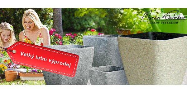 Výprodej! Plastové květináče Vanda v imitaci pískovce