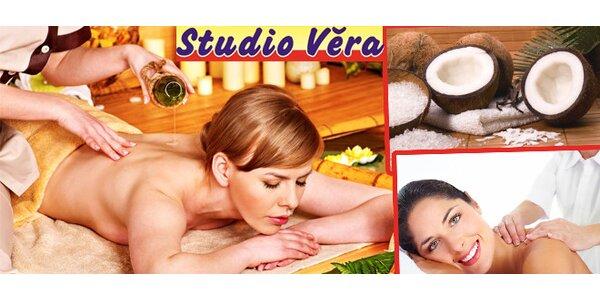 Klasické masáže kokosovým olejem - celé tělo nebo krk a šíje