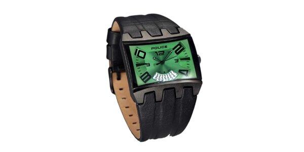 Pánské ocelové hodinky se zeleným ciferníkem Police