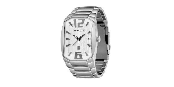 Pánské ocelové hodinky s podlouhlým ciferníkem Police