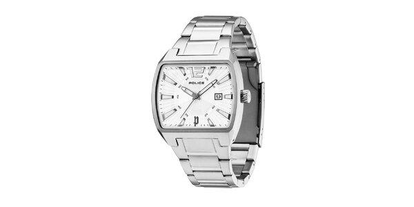 Pánské ocelové hodinky s bílým ciferníkem Police