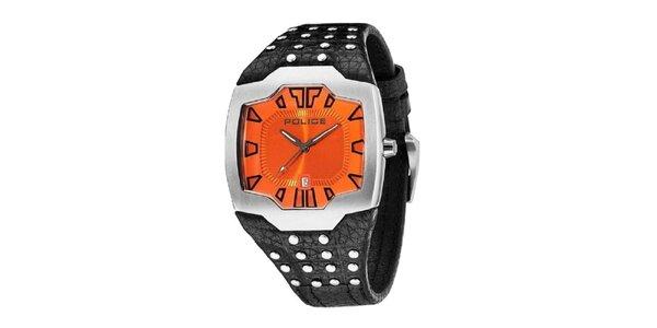 Pánské hodinky s ocvočkovaným řemínkem Police