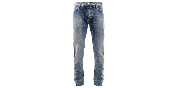 Pánské vintage modré džíny se šisováním Big Star