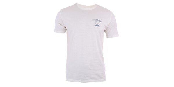 Pánské krémově bílé tričko s krátkým rukávem Big Star