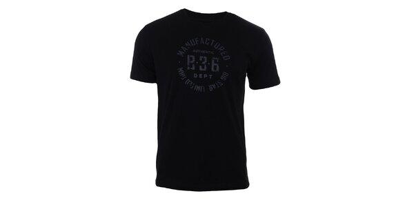 Pánské černé tričko s kulatým potiskem Big Star