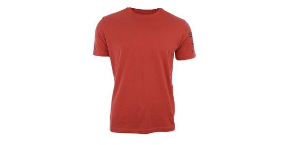 Pánské cihlově oranžové tričko s krátkým rukávem Big Star