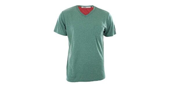 Pánské zelené tričko s kapsou Big Star