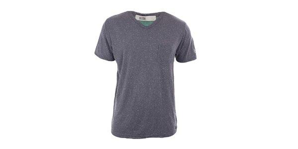 Pánské šedé tričko s kapsou Big Star