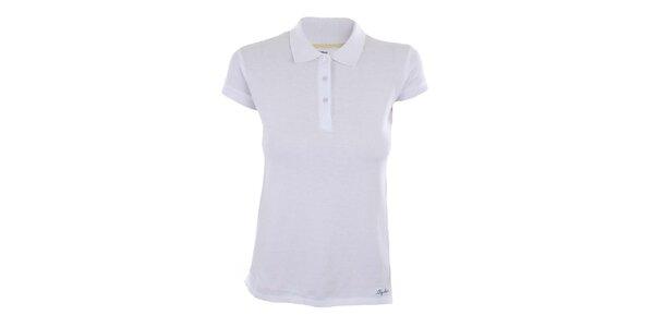 Dámské bílé polo tričko z bavlny Big Star