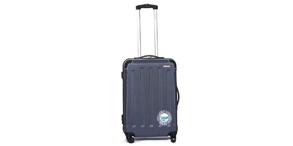 Větší pevný šedý kufr Ravizzoni