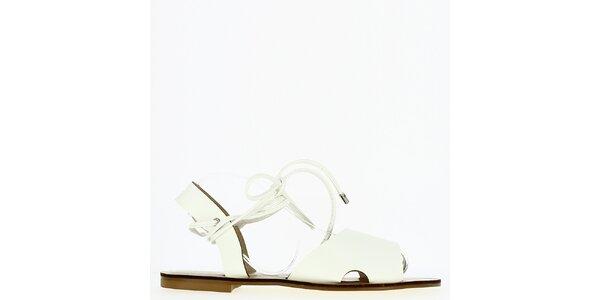 Dámské bílé sandálky s tkaničkou Shoes and the City
