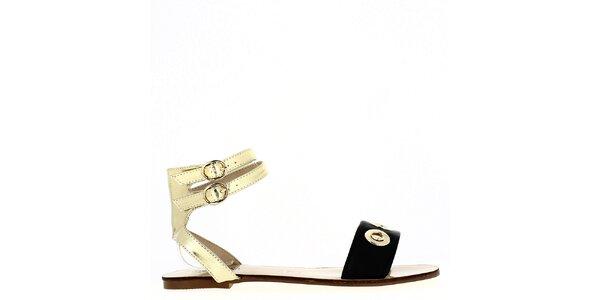 Dámské černo-zlaté sandálky Shoes and the City