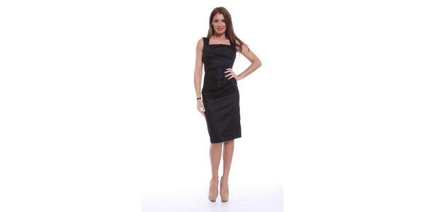 Dámské černé šaty bez rukávů Ines