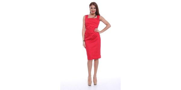 Dámské červené šaty bez rukávů Ines