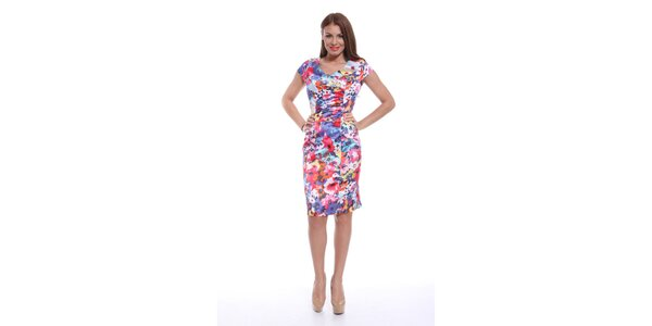 Dámské barevně květované šaty Ines