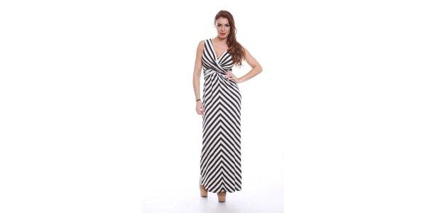 Dámské dlouhé černobílé šaty Ines
