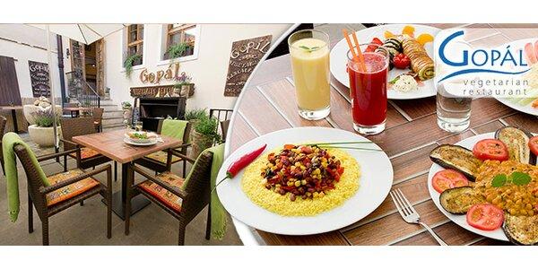 Snězte, co můžete, ve vegetariánské restauraci Gopál