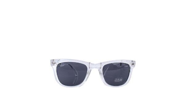 Bílé transparentní sluneční brýle Wize & Ope
