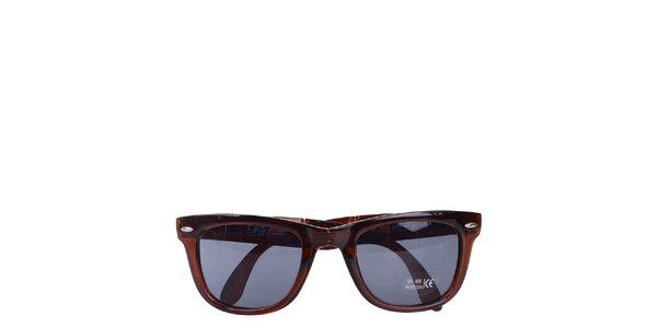 Hnědé transparentní sluneční brýle Wize & Ope