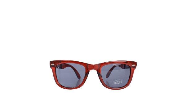 Červené transparentní sluneční brýle Wize & Ope